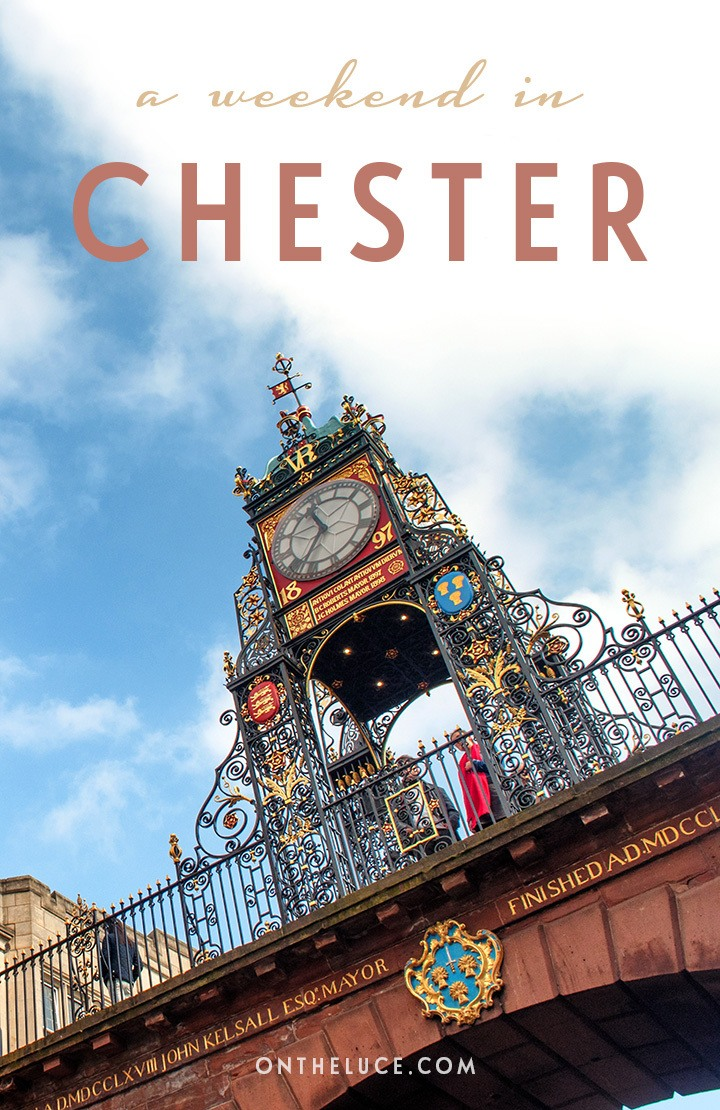 How to spend a weekend in Chester in north-west England, with tips on what to see, do, eat and drink on a 48-hour escape to this pretty historic city. #Chester #Cheshire #England #VisitEngland #weekend #weekendbreak