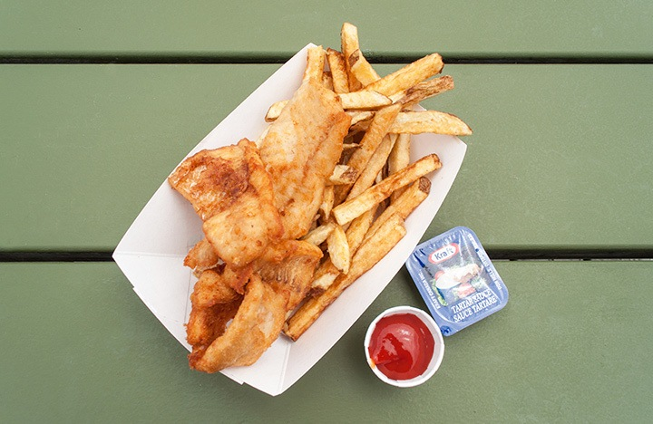 Fish and chips at Herbert Fisheries, Killarney