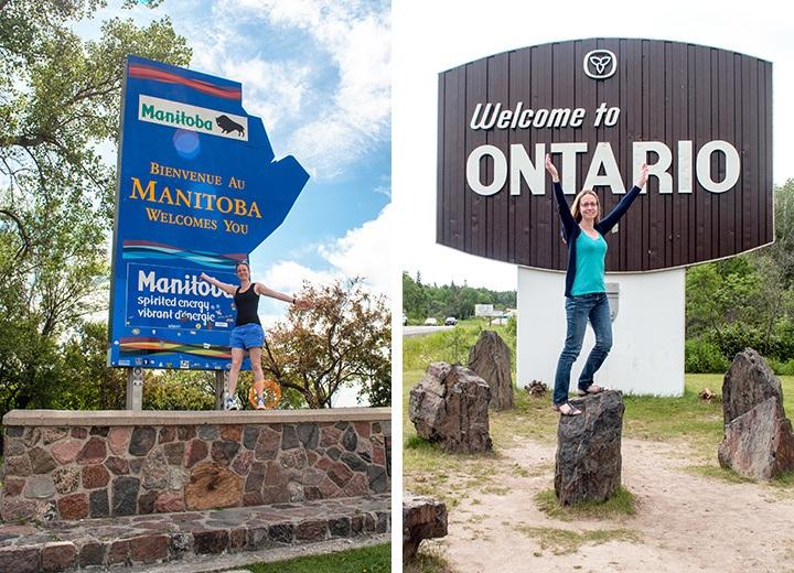 Manitoba and Ontario signs