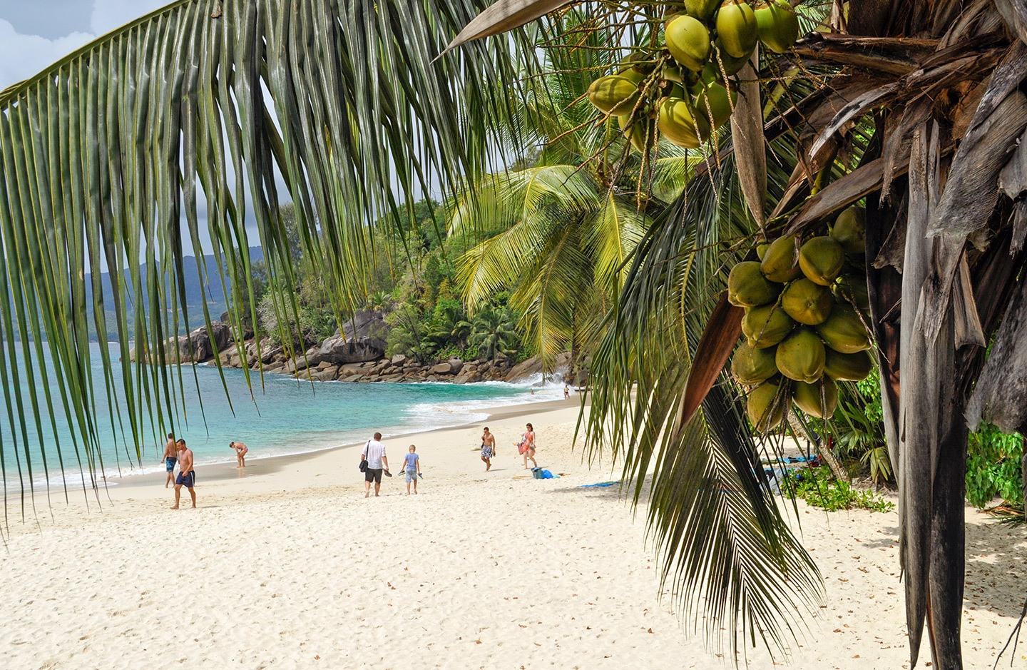 Anse Soliel beach in the Seychelles