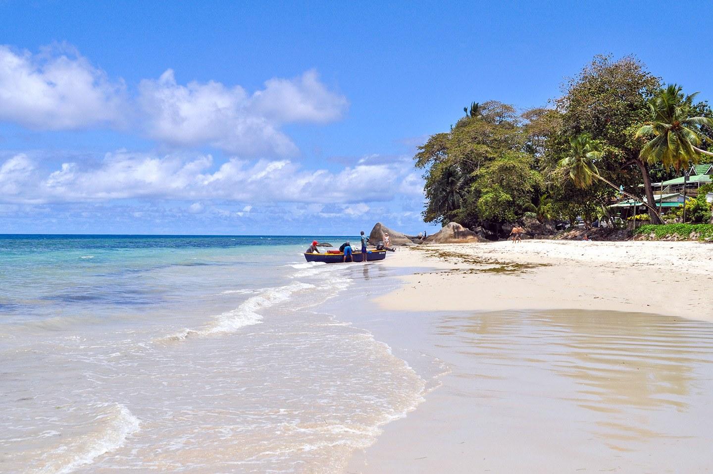 Beau Vallon beach in Mahé Seychelles