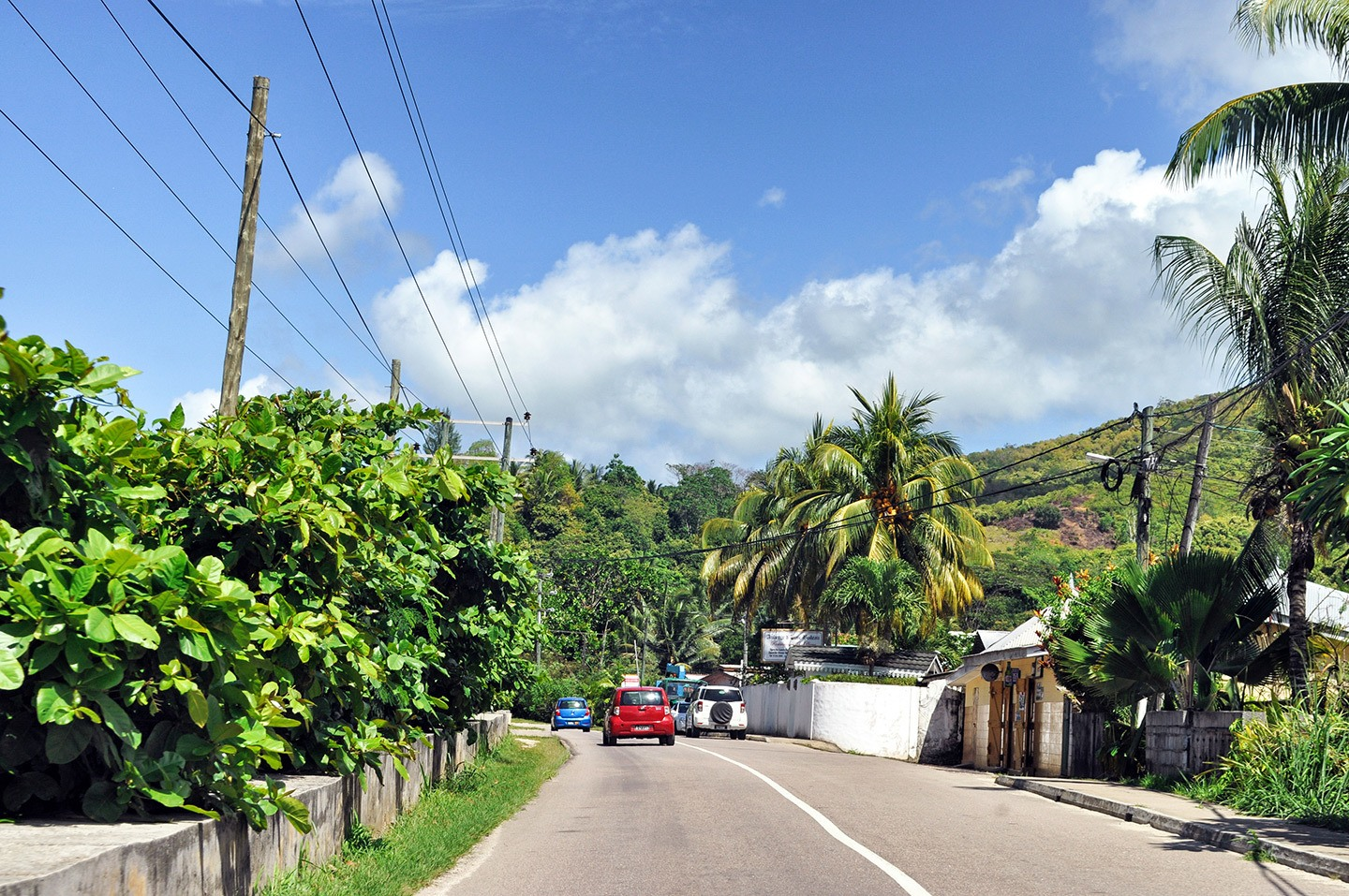 Roads in Mahé in the Seychelles