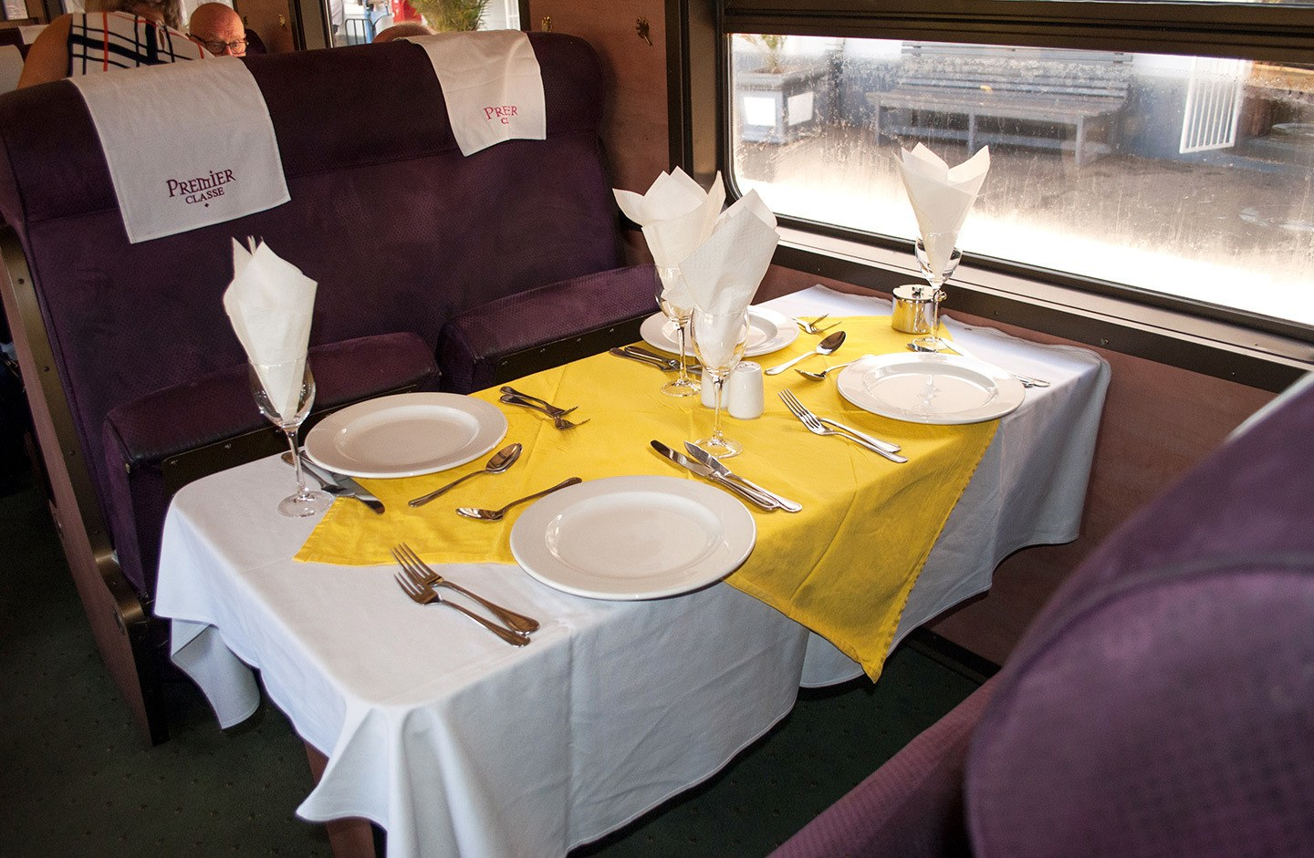 Premier Classe train dining car South Africa