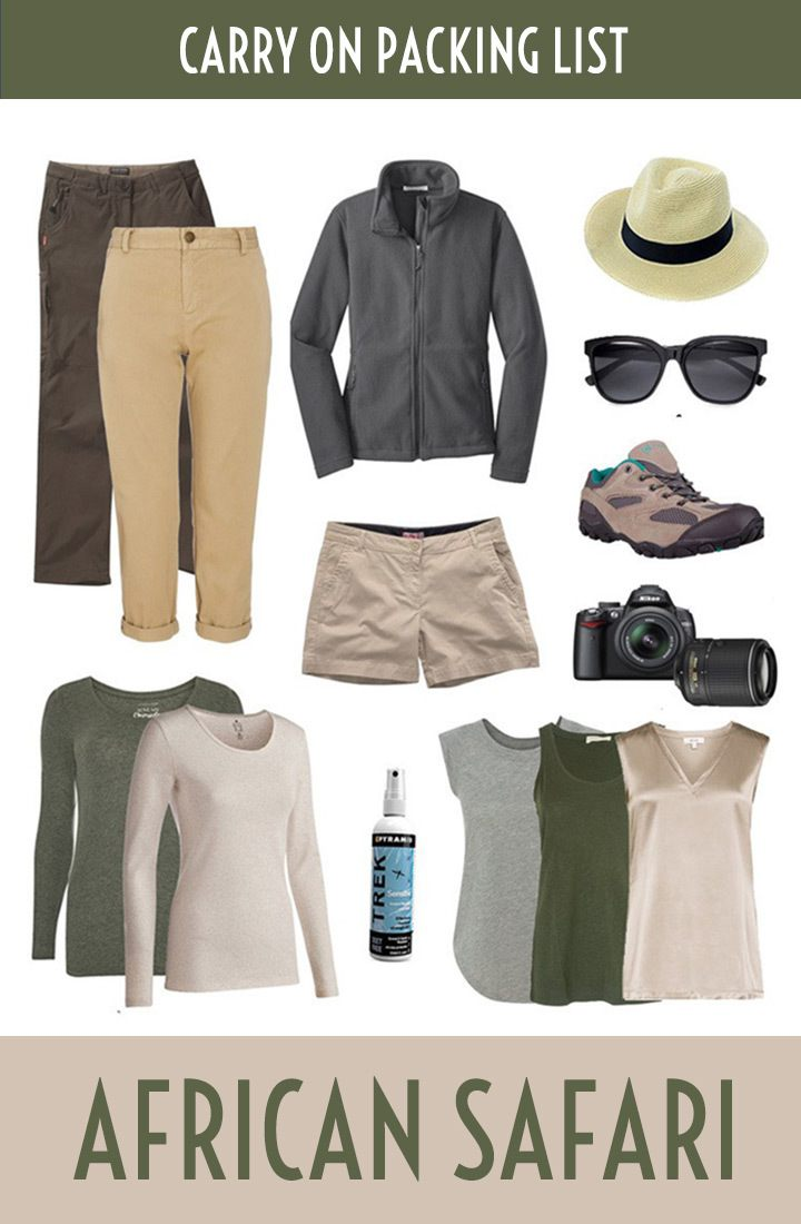 An African safari packing list – what to pack for an African safari, from clothing and footwear to toiletries and accessories. #safari #packinglist #africa