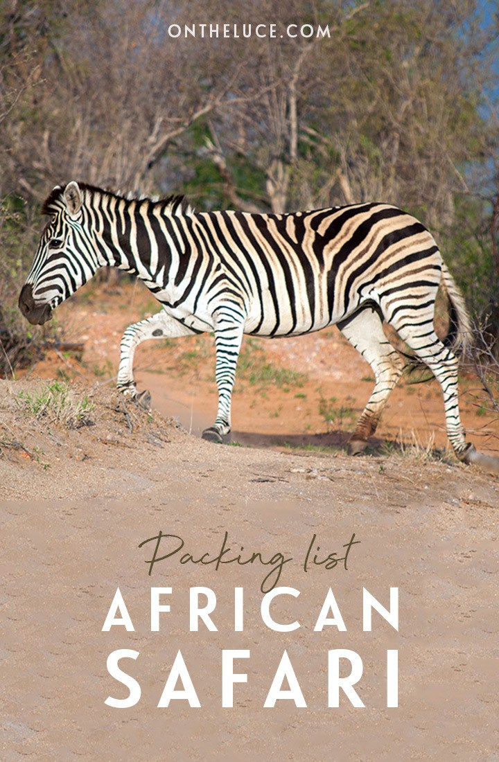 An African safar packing list – everything you need to pack for a safari in Africa, from clothes and shoes to accessories and toiletries #safari #packinglist #africa