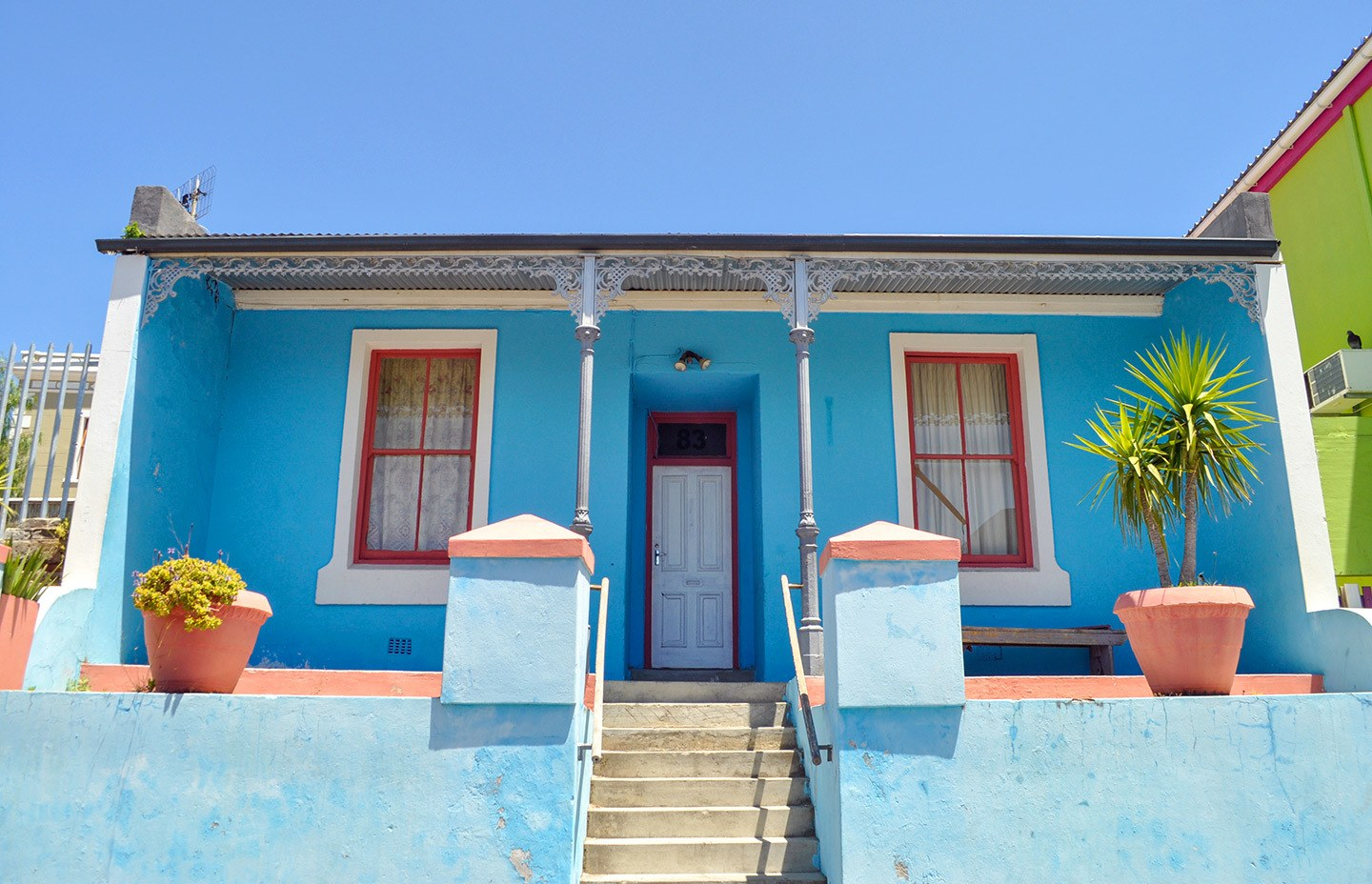Colourful houses in the Bo Kaap neighbourhood of Cape Town