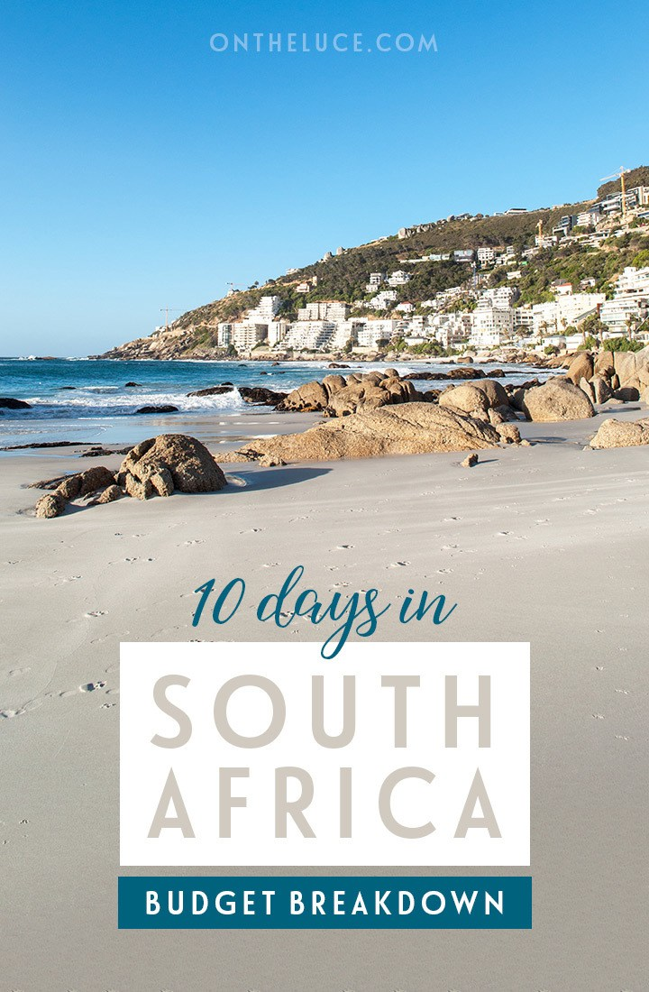 A trip budget breakdown for visiting South Africa – what does it cost for a 10-day trip including cities, beaches, road trips, scenic trains and safaris #SouthAfrica #travelbudget