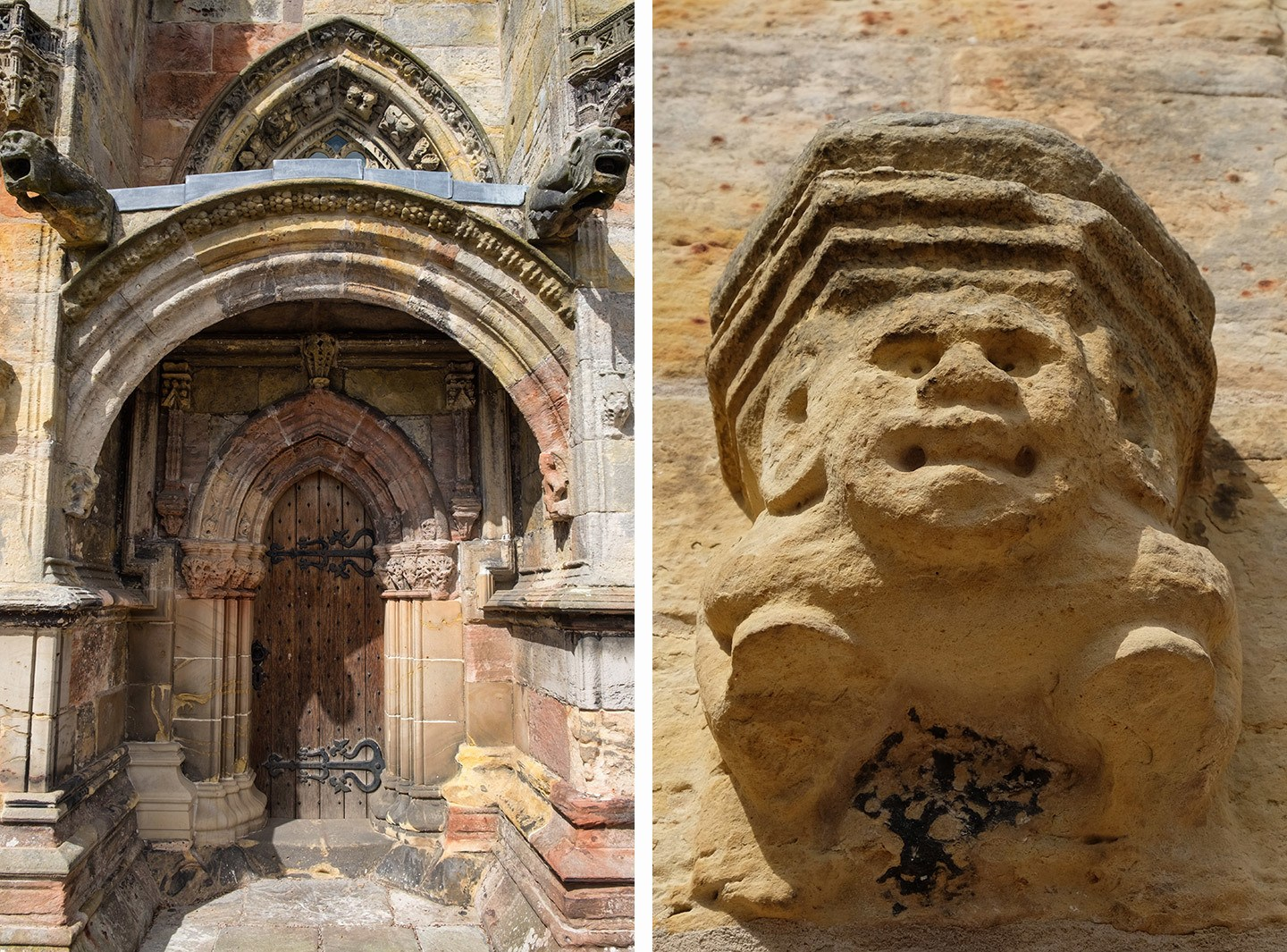 Rosslyn Chapel carvings, Edinburgh
