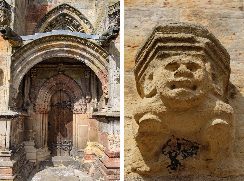 Rosslyn Chapel carvings, Edinburgh