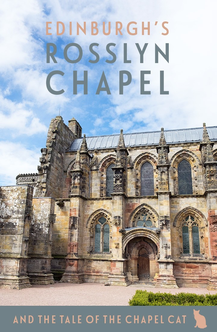 An Edinburgh day trip to Rosslyn Chapel, the 15th-century chapel whose myths and legends inspired The Da Vinci Code, but where a cat is the real star.