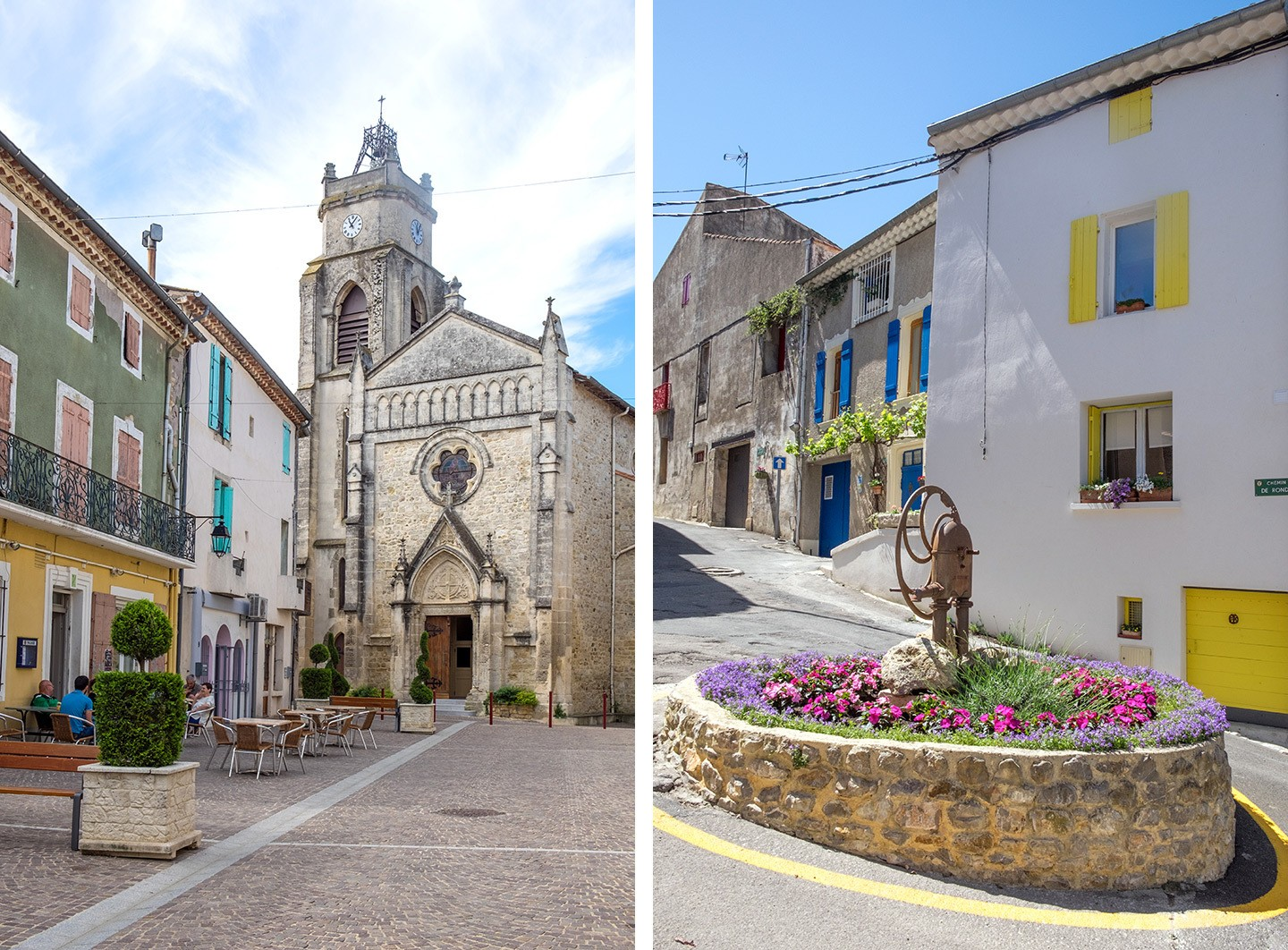 Autignac in Spring in France's Languedoc wine region