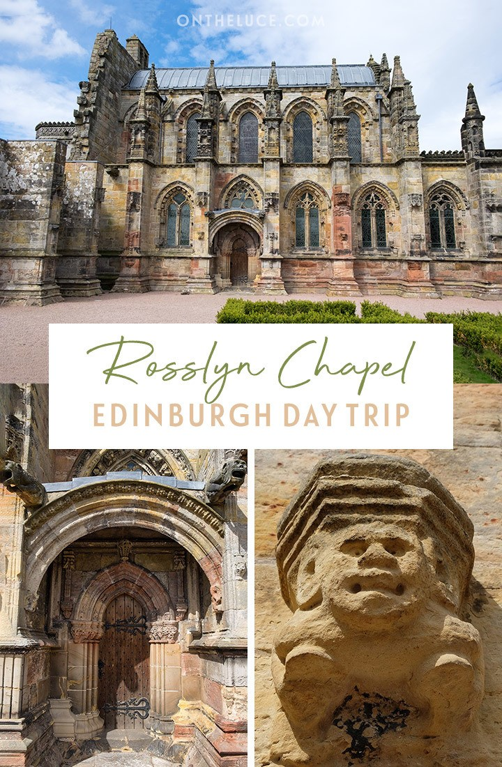 A day trip from Edinburgh to Rosslyn Chapel, Scotland, the 15th-century chapel whose legends inspired The Da Vinci Code, but where a cat is the real star – everything you need to know to visit Rosslyn Chapel | Edinburgh day trips | Rosslyn Chapel | Da Vinci Code