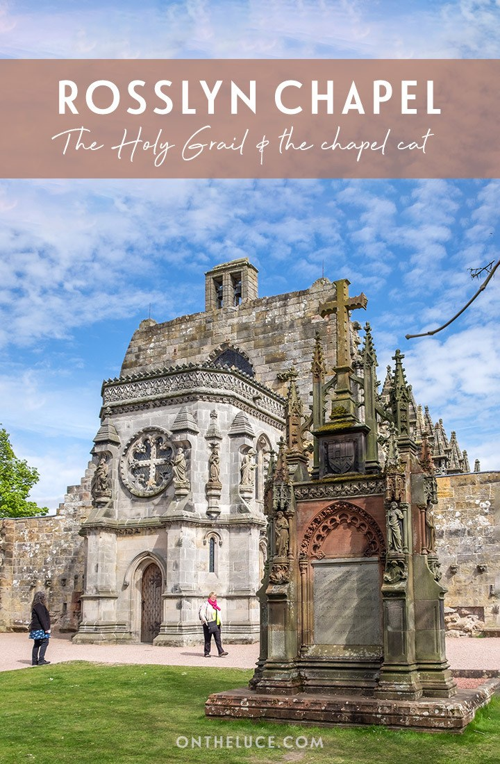 Visiting Rosslyn Chapel near Edinburgh, Scotland – a beautiful 15th-century chapel that's said to be he home of the Holy Grail, featured in the Da Vinci Code books and films | Edinburgh day trips | Rosslyn Chapel | Da Vinci Code