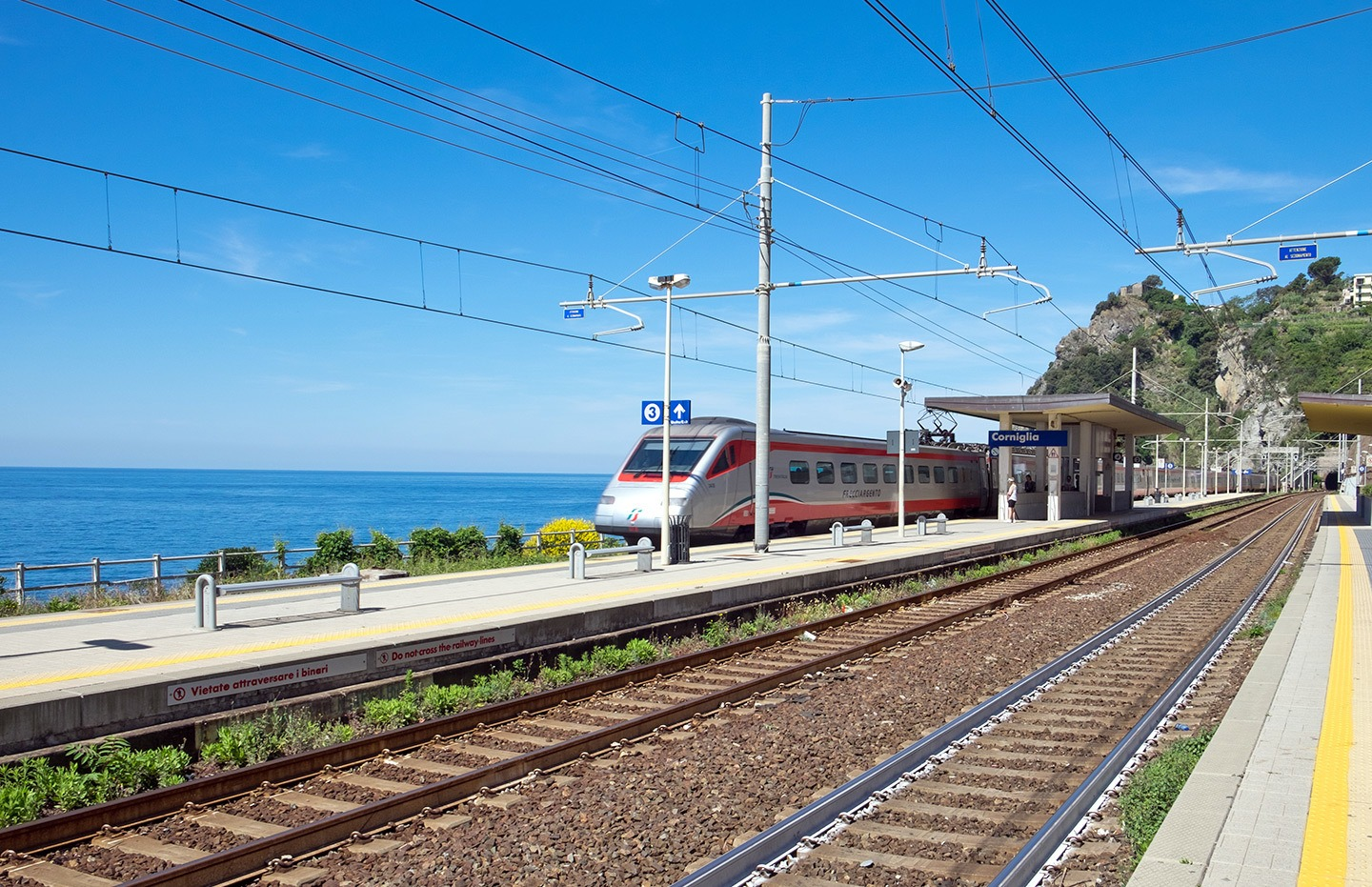 Corniglia's train station in the Cinque Terre