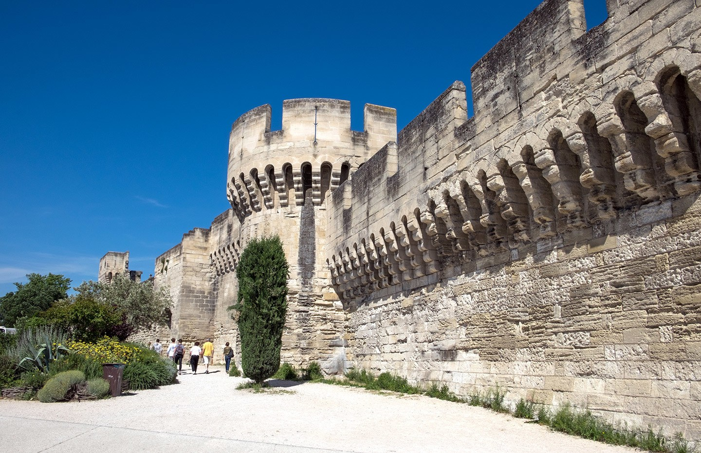 The city walls in Avignon, South of France