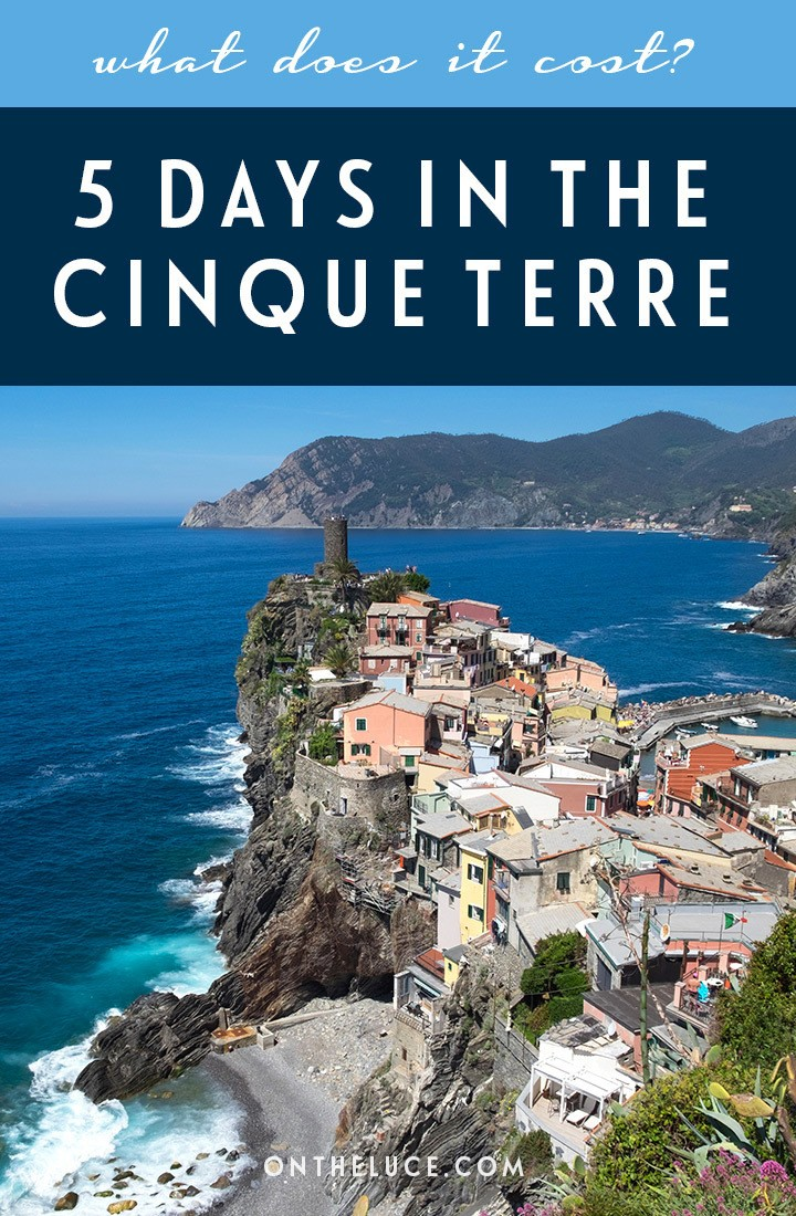 How much does it cost to visit Italy's Cinque Terre? A trip budget breakdown for 5 days, including accommodation, transport, activities, food and drink #Italy #CinqueTerre #travelcosts #travelbudget