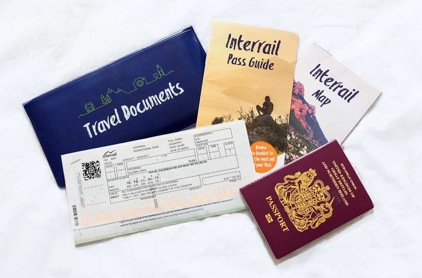 Interrail European rail pass