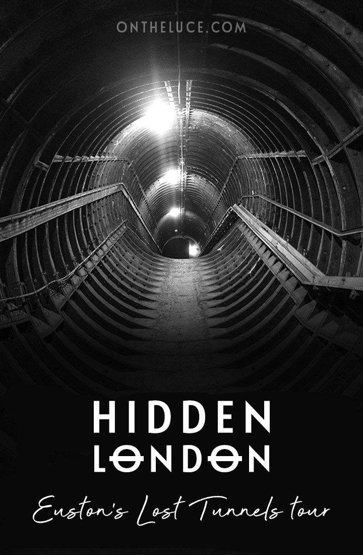Discovering Euston's secret tunnels, exploring the network of deserted hidden tunnels dating back to the 1960s which lie beneath Euston London Underground station on a London Transport Museum Hidden London tour #London #HiddenLondon #Euston #underground