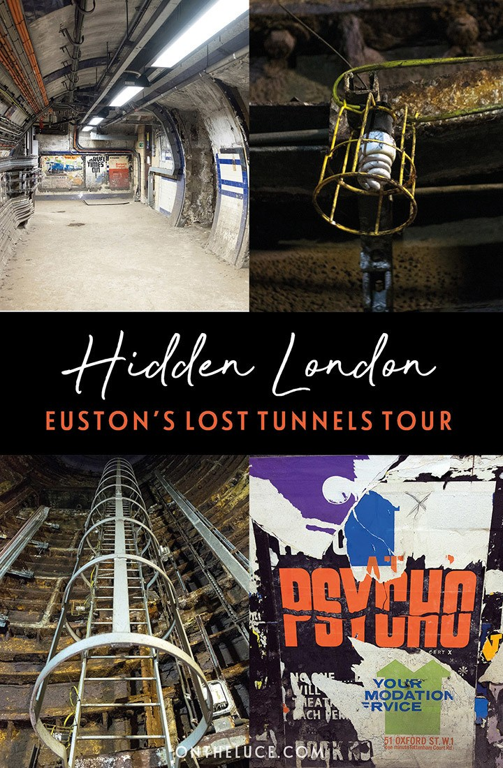 A Hidden London tour of Euston's lost tunnels: Discovering the network of secret tunnels hidden beneath London's Euston station on an abandoned London underground tour. #London #HiddenLondon #Euston #underground