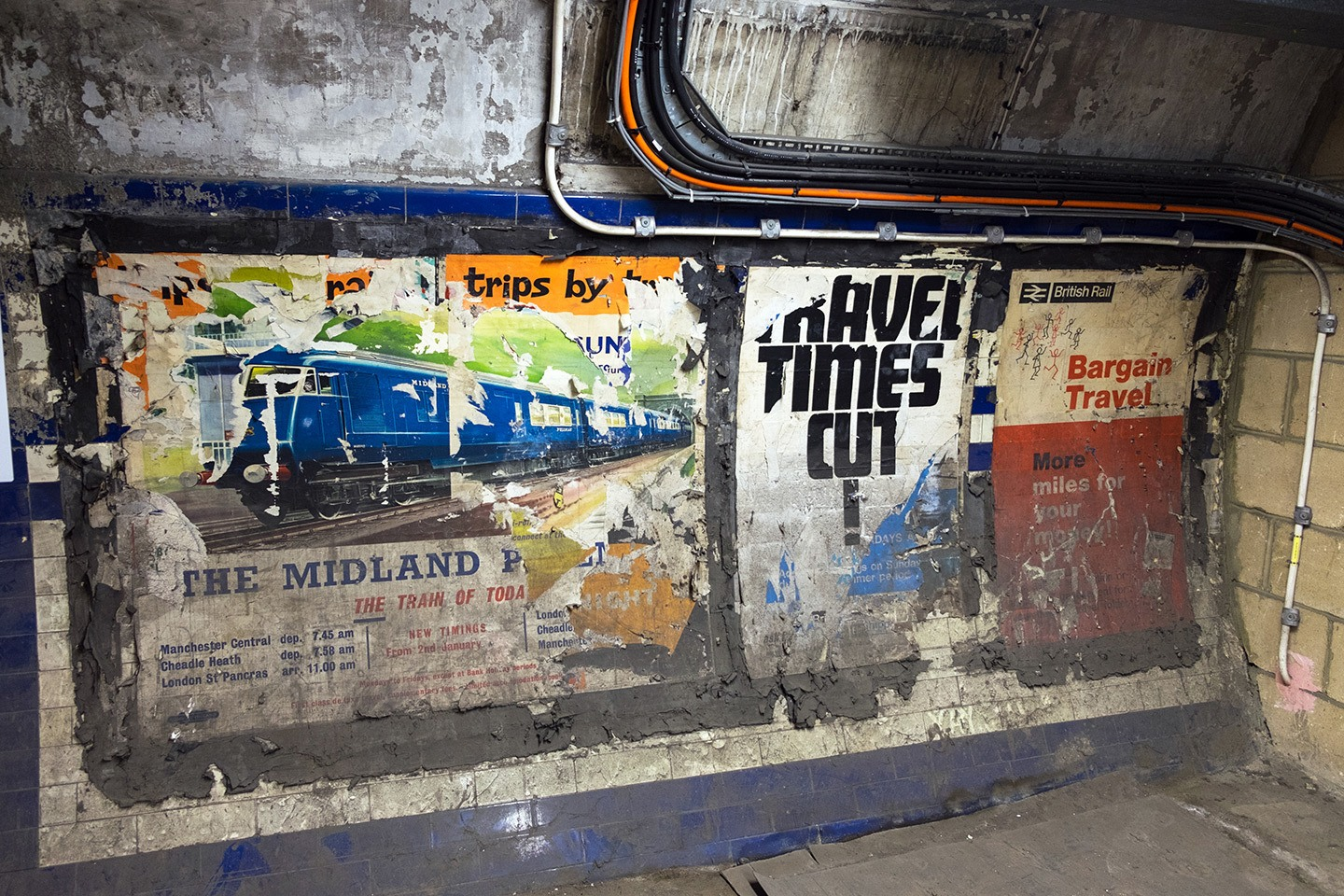 Vintage posters in the Hidden London underground tour