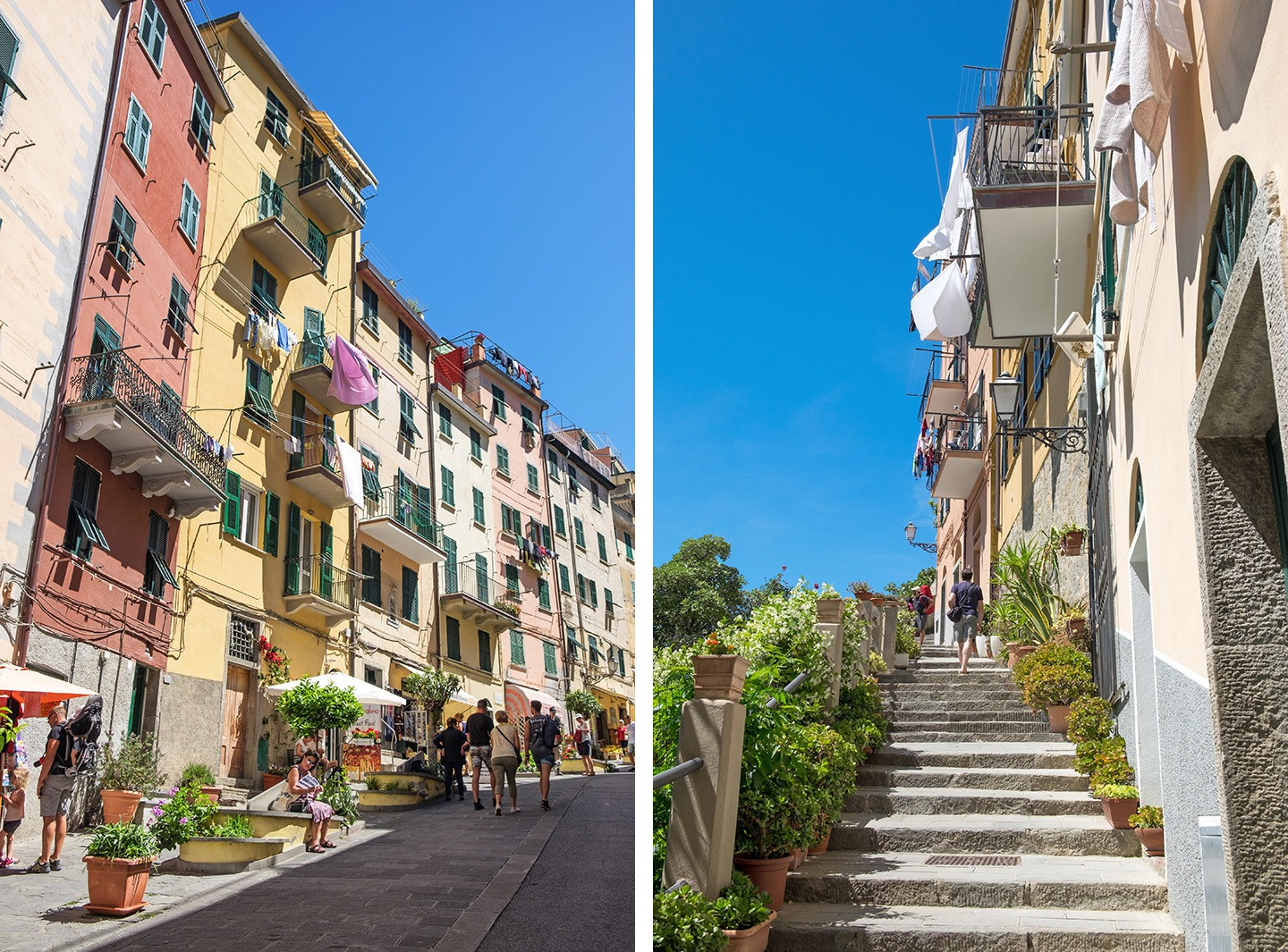 The colourful streets of Riomaggiore
