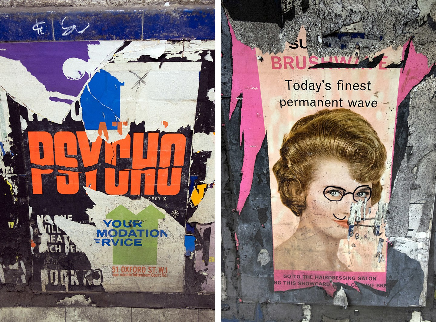 Vintage posters in Euston's secret tunnels