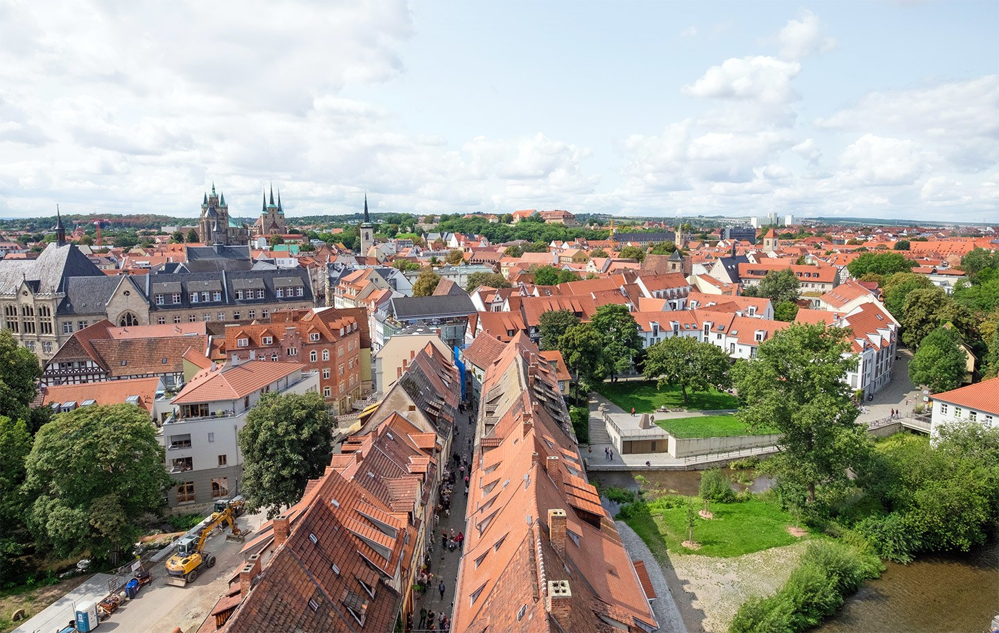 Views over Erfurt, Germany