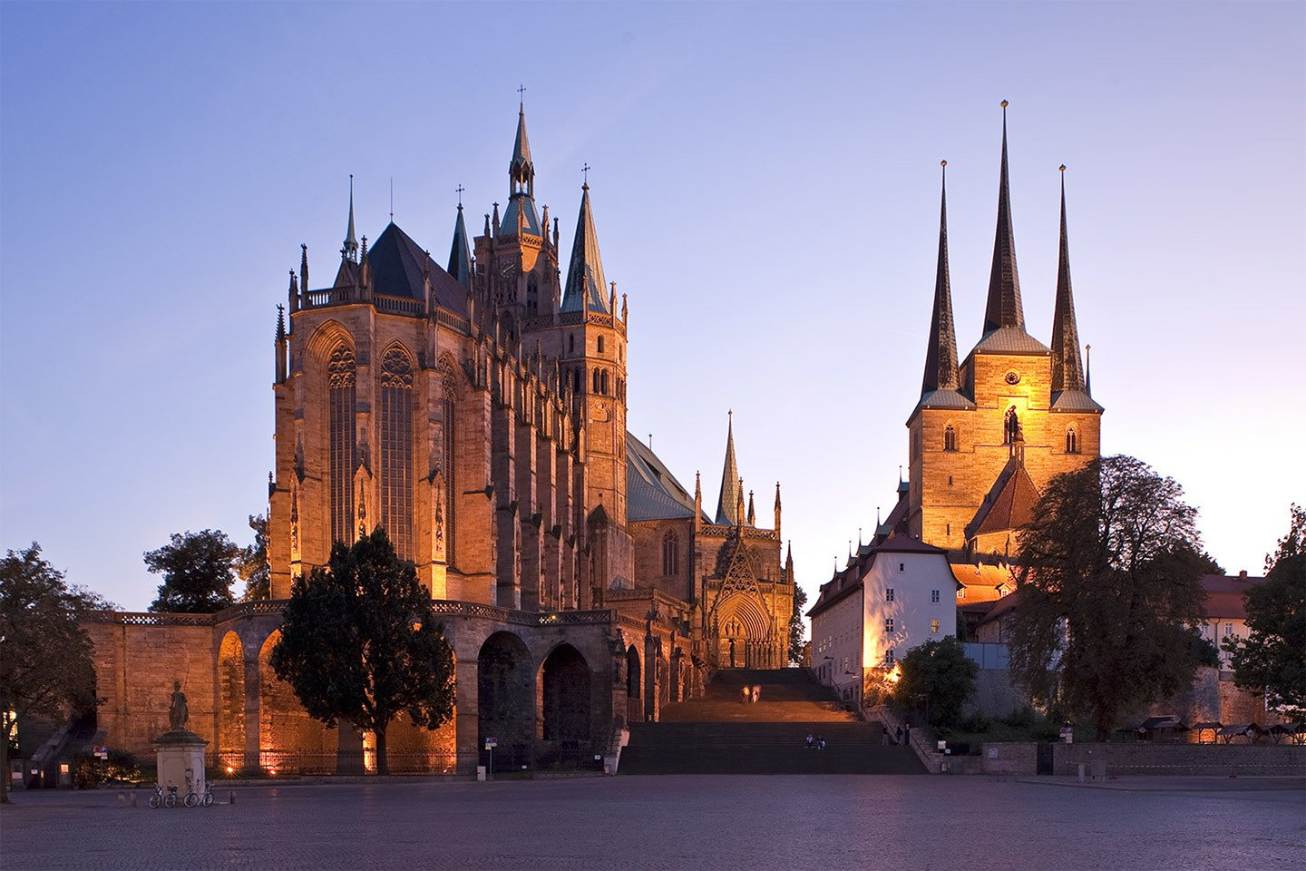 Erfurt's cathedral and church, Germany