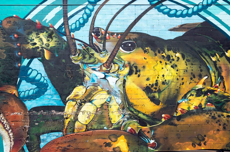 Lobster street art Charlottetown, Prince Edward Island, Canada