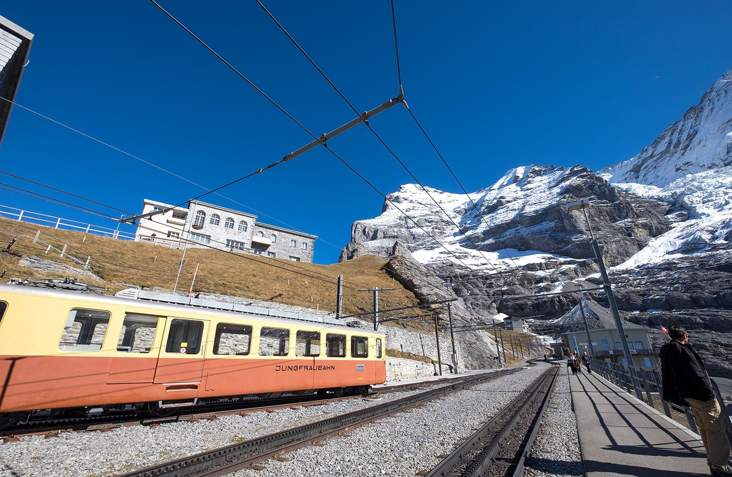 The Jungfraubahn scenic train in Switzerland
