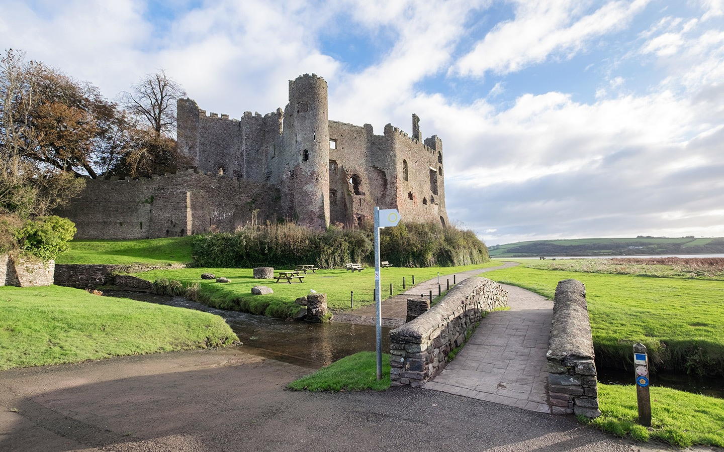 Laugharne castle in South Wales