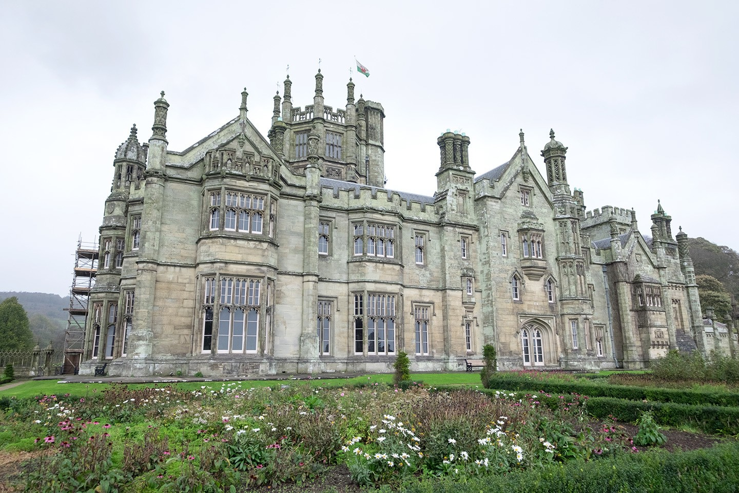 Margam Castle at Margam Country Park near Port Talbot in South Wales