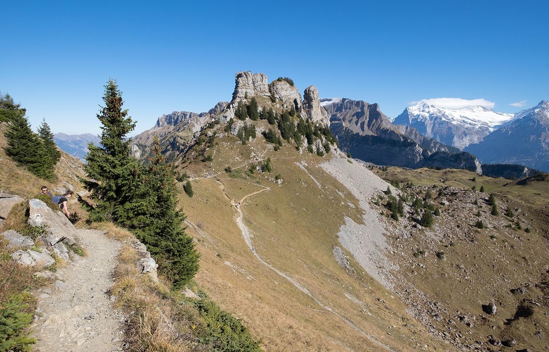 Hiking at Schynige Platte, Jungfrau, Switzerland