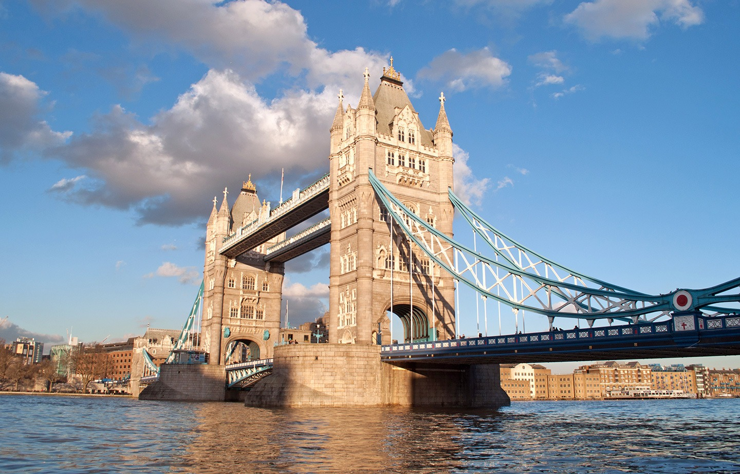 Tower Bridge in London on a sunny day