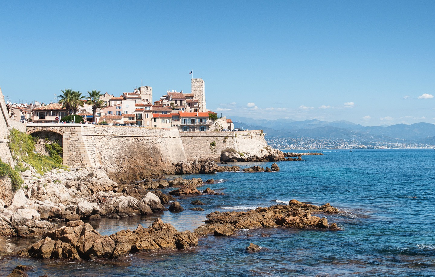 Antibes walled town, South of France