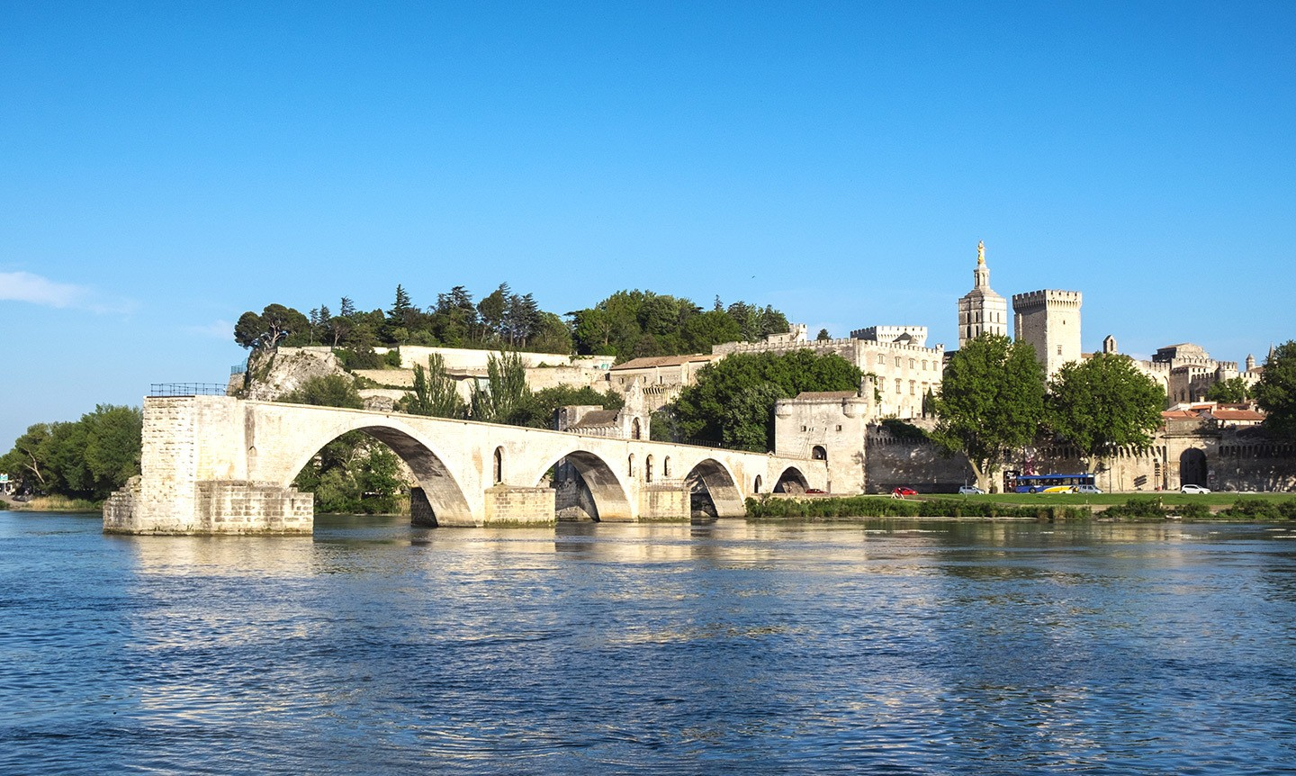 The Pont d'Avignon in Avignon