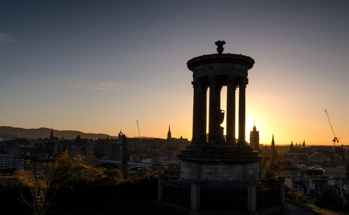 Sunset at Calton Hill, Edinburgh