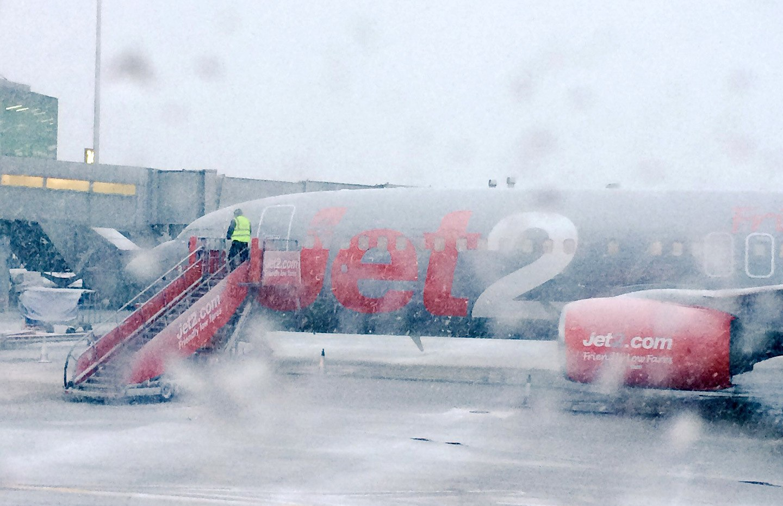 Jet2 plane in snow
