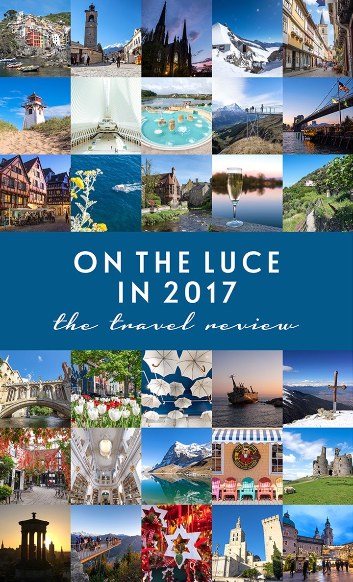 Travel highlights On the Luce in 2017, including skiing in Bulgaria, European rail trips, Cinque Terre views, summer in New York, discovering Prince Edward Island and much more.