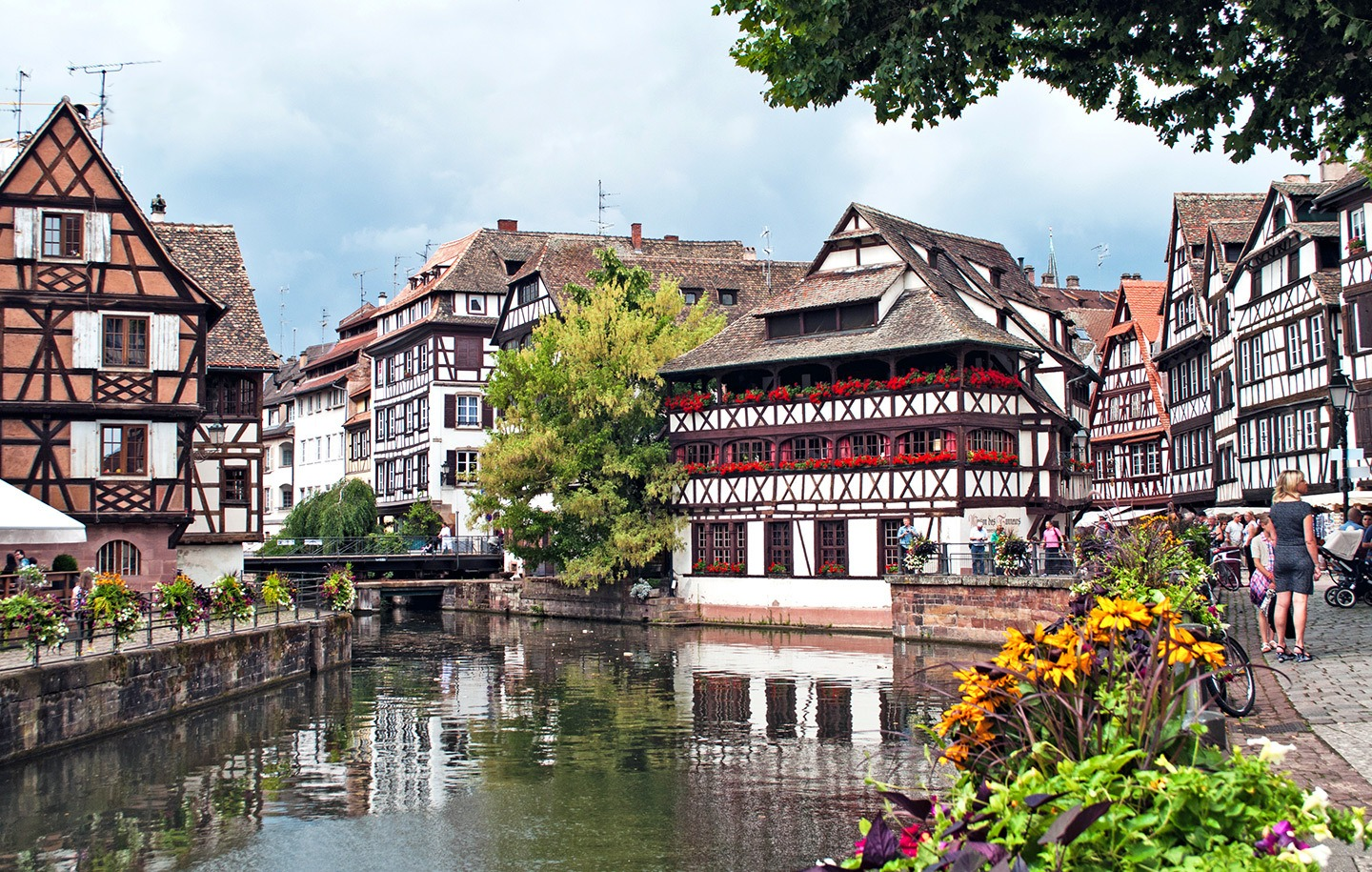 Beautiful Petite France on Strasbourg's canals