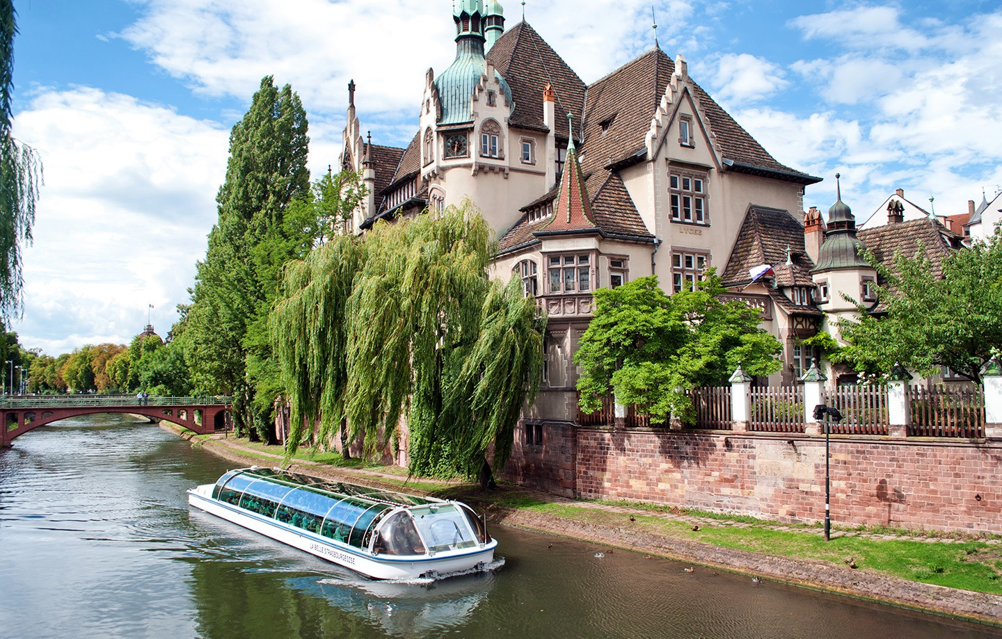 A boat trip on the canals in Strasbourg