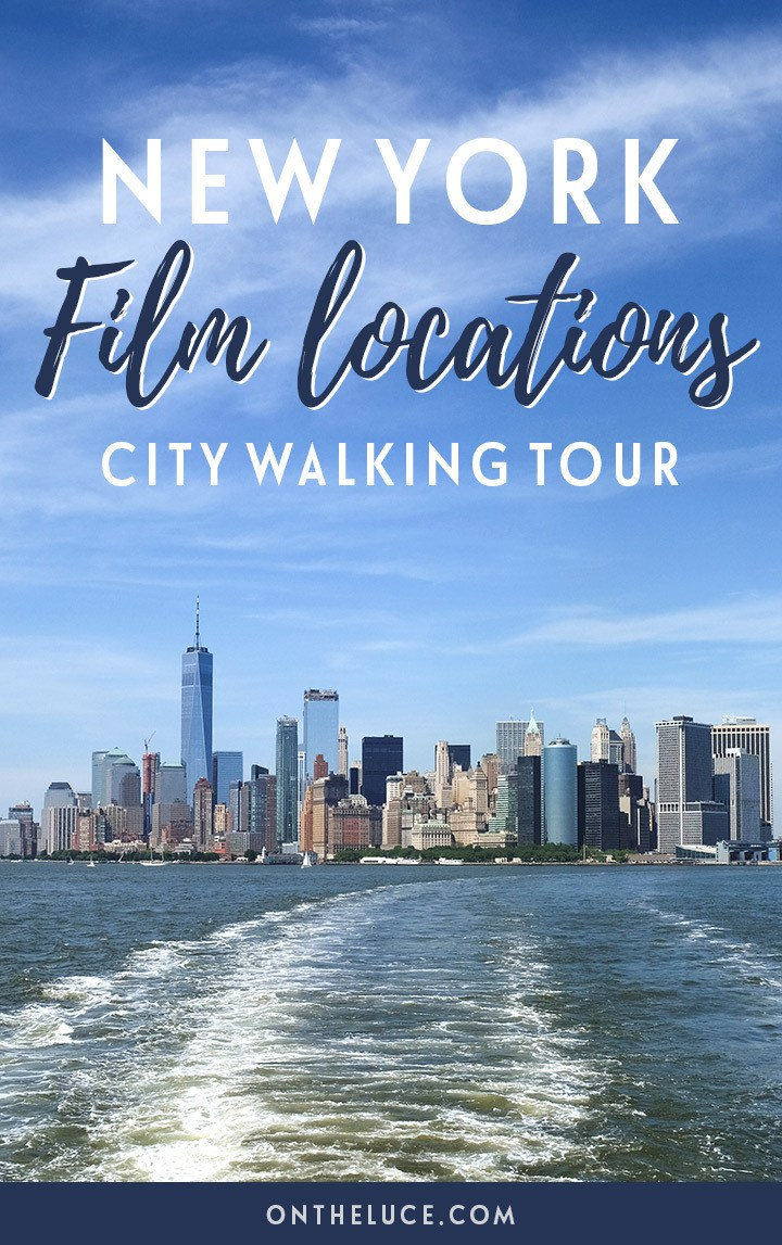 A New York film locations self-guided city walking tour around Manhattan, featuring locations from iconic films such as Ghostbusters, When Harry Met Sally and Breakfast at Tiffany's | New York film locations | New York movie locations | New York walking tour | Manhattan walking tour
