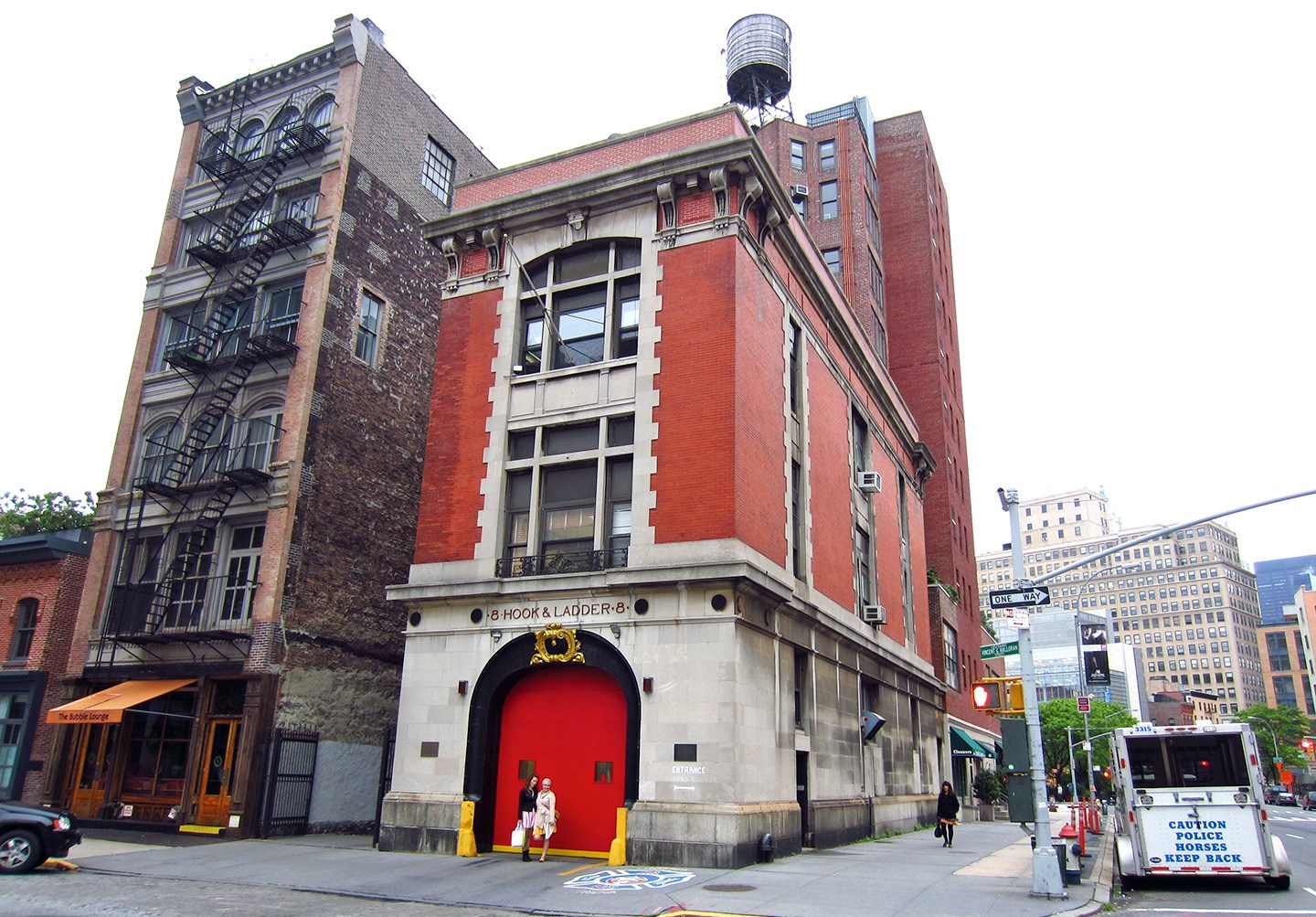 Hook and Ladder 8, the Ghostbusters fire station in New York