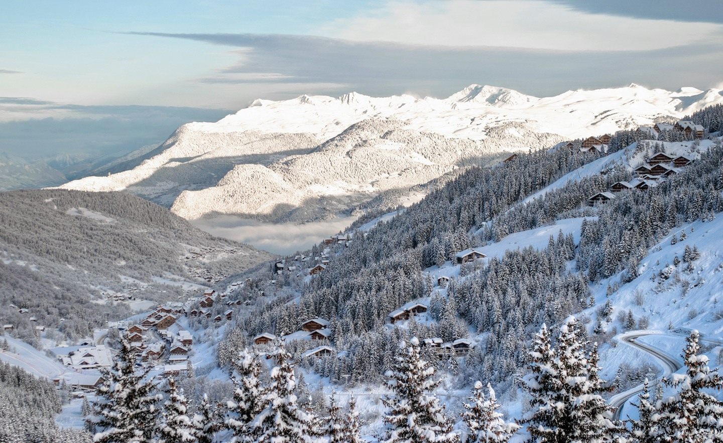 Views down the Meribel Valley, French Alps