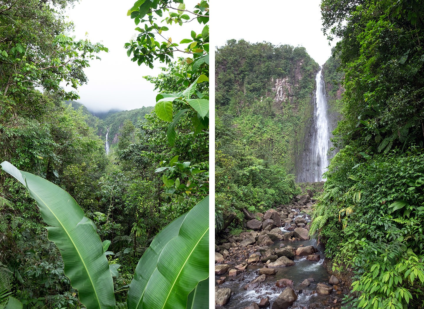 Chutes du Carbet waterfalls in Guadeloupe