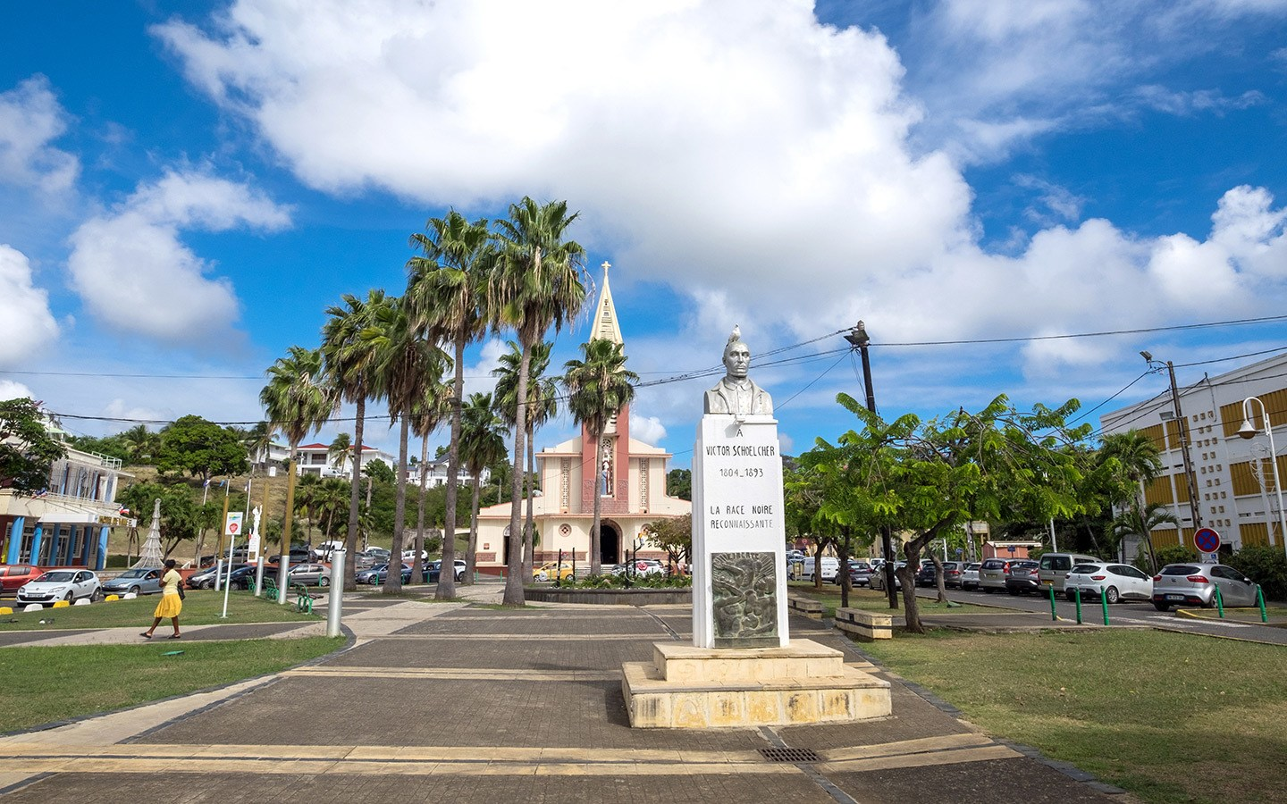 Saint-Anne main square in Guadeloupe