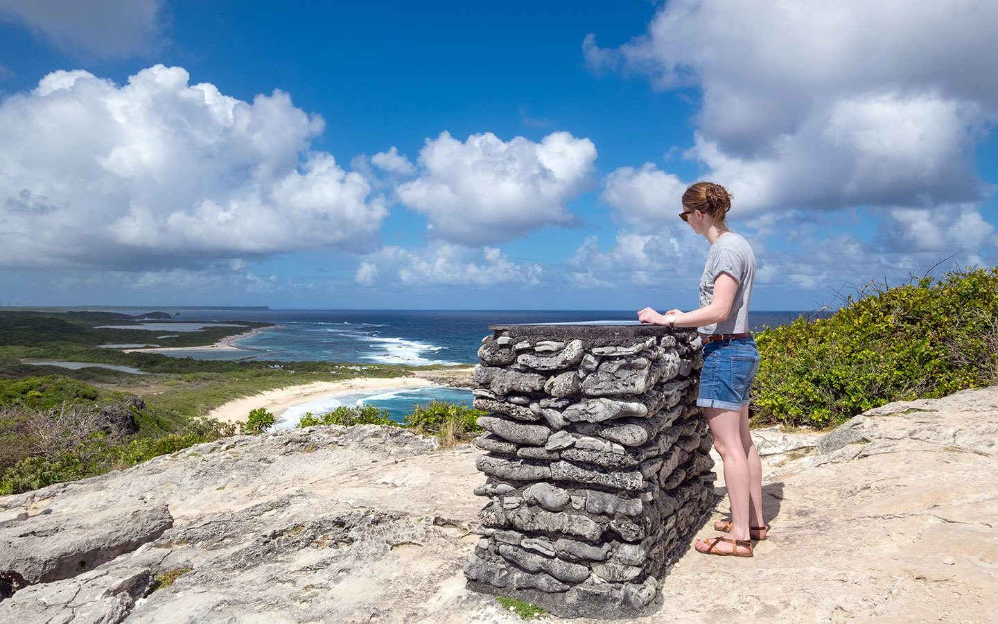 Views from the Pointe des Châteaux in Guadeloupe