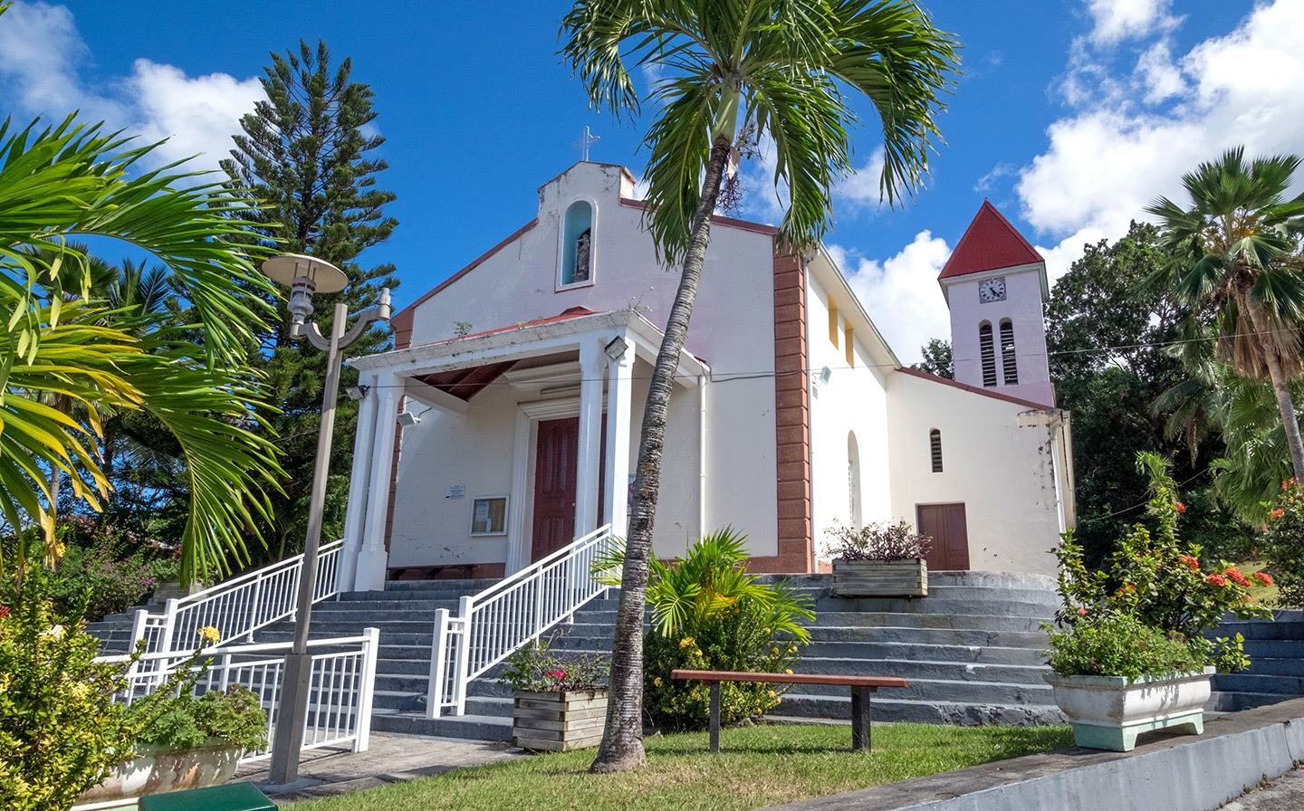 Deshaies church in Basse-Terre, Guadeloupe
