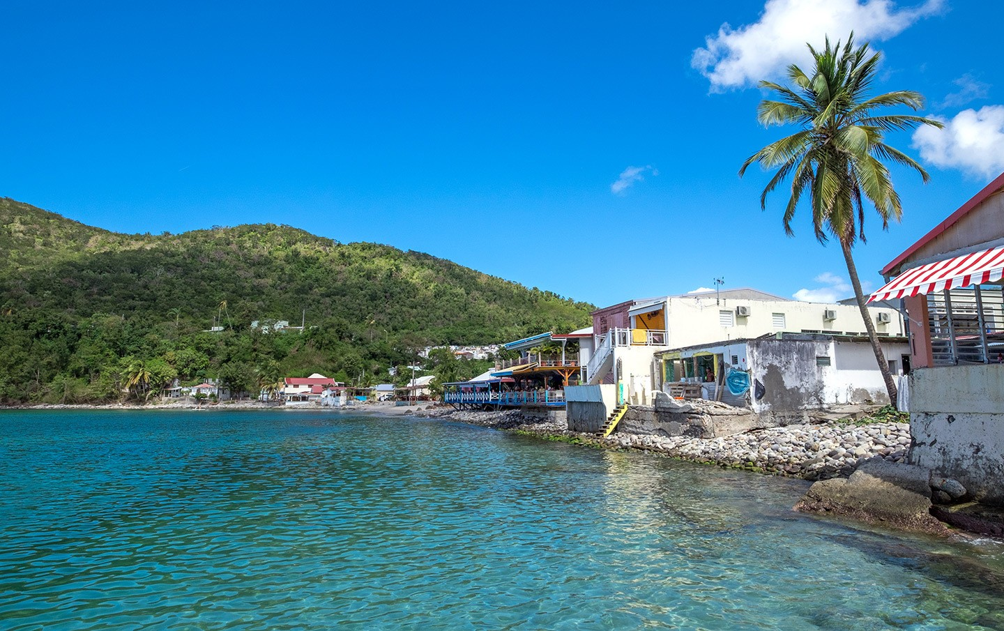 Deshaies waterfront in Basse-Terre, Guadeloupe