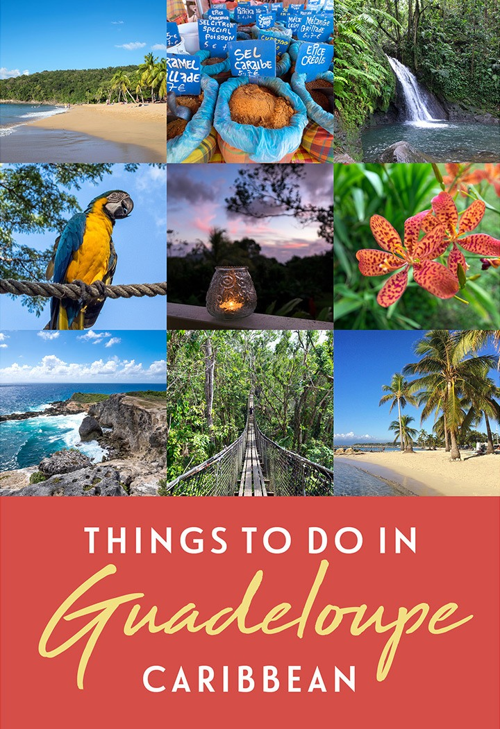 Discover the best things to do in Guadeloupe in the French Caribbean – with highlights from Grand-Terre and Basse-Terre including beautiful beaches, waterfalls, rum distilleries and jungle hikes #Guadeloupe #Gwada #Caribbean #DeathinParadise #Antilles